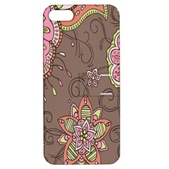 Ice Cream Flower Floral Rose Sunflower Leaf Star Brown Apple Iphone 5 Hardshell Case With Stand
