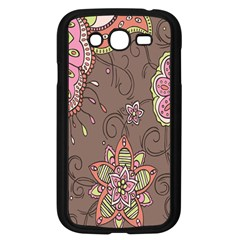 Ice Cream Flower Floral Rose Sunflower Leaf Star Brown Samsung Galaxy Grand Duos I9082 Case (black) by Alisyart