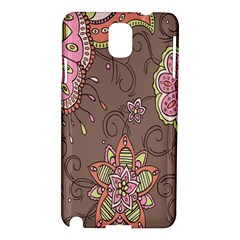 Ice Cream Flower Floral Rose Sunflower Leaf Star Brown Samsung Galaxy Note 3 N9005 Hardshell Case by Alisyart