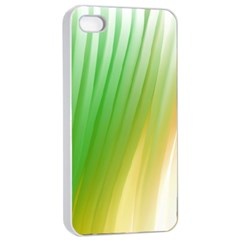 Folded Paint Texture Background Apple Iphone 4/4s Seamless Case (white) by Simbadda