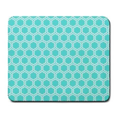 Plaid Circle Blue Wave Large Mousepads by Alisyart