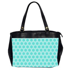Plaid Circle Blue Wave Office Handbags (2 Sides)  by Alisyart