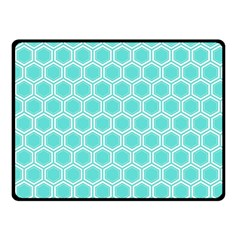 Plaid Circle Blue Wave Fleece Blanket (small)