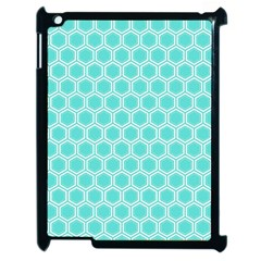 Plaid Circle Blue Wave Apple Ipad 2 Case (black) by Alisyart