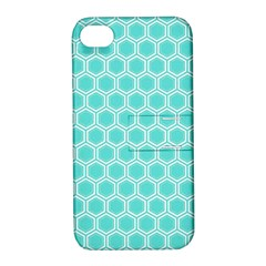 Plaid Circle Blue Wave Apple Iphone 4/4s Hardshell Case With Stand by Alisyart