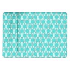Plaid Circle Blue Wave Samsung Galaxy Tab 10 1  P7500 Flip Case