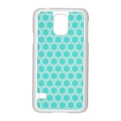 Plaid Circle Blue Wave Samsung Galaxy S5 Case (white)