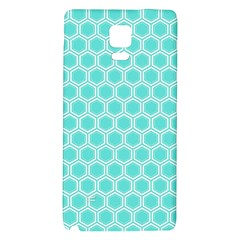 Plaid Circle Blue Wave Galaxy Note 4 Back Case by Alisyart
