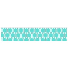 Plaid Circle Blue Wave Flano Scarf (small)