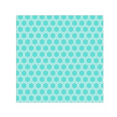 Plaid Circle Blue Wave Small Satin Scarf (square)