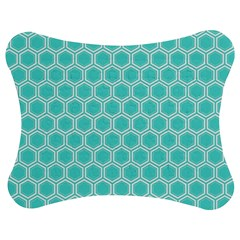 Plaid Circle Blue Wave Jigsaw Puzzle Photo Stand (bow) by Alisyart