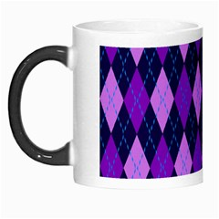 Plaid Triangle Line Wave Chevron Blue Purple Pink Beauty Argyle Morph Mugs by Alisyart