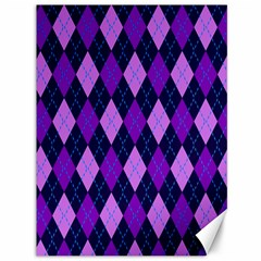 Plaid Triangle Line Wave Chevron Blue Purple Pink Beauty Argyle Canvas 36  X 48   by Alisyart