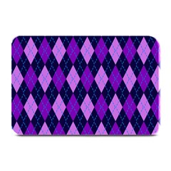 Plaid Triangle Line Wave Chevron Blue Purple Pink Beauty Argyle Plate Mats by Alisyart