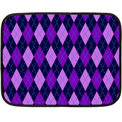 Plaid Triangle Line Wave Chevron Blue Purple Pink Beauty Argyle Double Sided Fleece Blanket (mini)  by Alisyart
