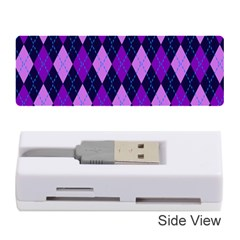 Plaid Triangle Line Wave Chevron Blue Purple Pink Beauty Argyle Memory Card Reader (stick)  by Alisyart