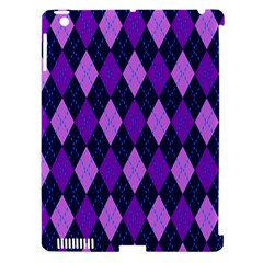 Plaid Triangle Line Wave Chevron Blue Purple Pink Beauty Argyle Apple Ipad 3/4 Hardshell Case (compatible With Smart Cover) by Alisyart