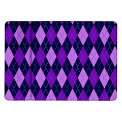 Plaid Triangle Line Wave Chevron Blue Purple Pink Beauty Argyle Samsung Galaxy Tab 10 1  P7500 Flip Case