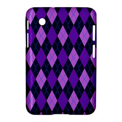 Plaid Triangle Line Wave Chevron Blue Purple Pink Beauty Argyle Samsung Galaxy Tab 2 (7 ) P3100 Hardshell Case  by Alisyart