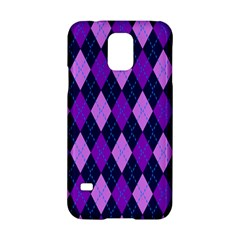 Plaid Triangle Line Wave Chevron Blue Purple Pink Beauty Argyle Samsung Galaxy S5 Hardshell Case  by Alisyart