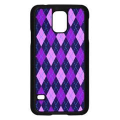 Plaid Triangle Line Wave Chevron Blue Purple Pink Beauty Argyle Samsung Galaxy S5 Case (black) by Alisyart
