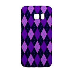 Plaid Triangle Line Wave Chevron Blue Purple Pink Beauty Argyle Galaxy S6 Edge by Alisyart