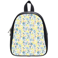 Flower Floral Bird Peacok Sunflower Star Leaf Rose School Bags (small)  by Alisyart