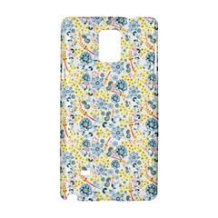 Flower Floral Bird Peacok Sunflower Star Leaf Rose Samsung Galaxy Note 4 Hardshell Case by Alisyart