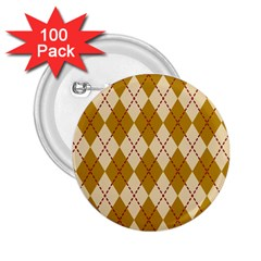 Plaid Triangle Line Wave Chevron Orange Red Grey Beauty Argyle 2 25  Buttons (100 Pack)  by Alisyart