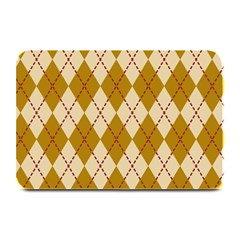 Plaid Triangle Line Wave Chevron Orange Red Grey Beauty Argyle Plate Mats by Alisyart