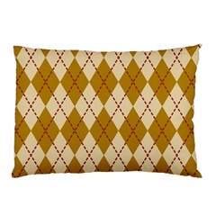 Plaid Triangle Line Wave Chevron Orange Red Grey Beauty Argyle Pillow Case by Alisyart