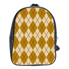 Plaid Triangle Line Wave Chevron Orange Red Grey Beauty Argyle School Bags(large)  by Alisyart