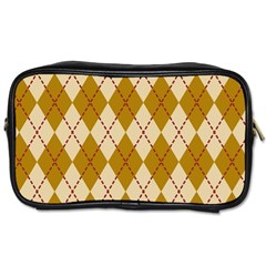Plaid Triangle Line Wave Chevron Orange Red Grey Beauty Argyle Toiletries Bags 2 Side by Alisyart