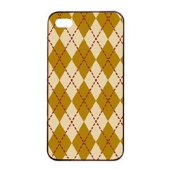 Plaid Triangle Line Wave Chevron Orange Red Grey Beauty Argyle Apple Iphone 4/4s Seamless Case (black) by Alisyart