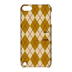 Plaid Triangle Line Wave Chevron Orange Red Grey Beauty Argyle Apple Ipod Touch 5 Hardshell Case With Stand