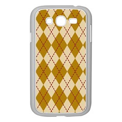 Plaid Triangle Line Wave Chevron Orange Red Grey Beauty Argyle Samsung Galaxy Grand Duos I9082 Case (white) by Alisyart