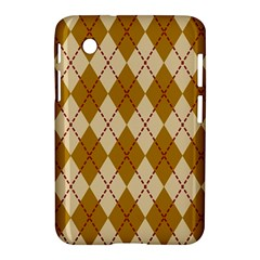 Plaid Triangle Line Wave Chevron Orange Red Grey Beauty Argyle Samsung Galaxy Tab 2 (7 ) P3100 Hardshell Case  by Alisyart