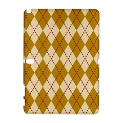 Plaid Triangle Line Wave Chevron Orange Red Grey Beauty Argyle Galaxy Note 1 by Alisyart
