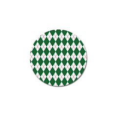 Plaid Triangle Line Wave Chevron Green Red White Beauty Argyle Golf Ball Marker (10 Pack) by Alisyart