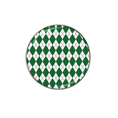 Plaid Triangle Line Wave Chevron Green Red White Beauty Argyle Hat Clip Ball Marker (4 Pack)