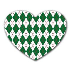 Plaid Triangle Line Wave Chevron Green Red White Beauty Argyle Heart Mousepads by Alisyart