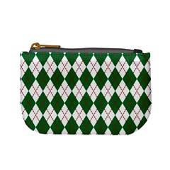Plaid Triangle Line Wave Chevron Green Red White Beauty Argyle Mini Coin Purses by Alisyart