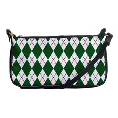 Plaid Triangle Line Wave Chevron Green Red White Beauty Argyle Shoulder Clutch Bags