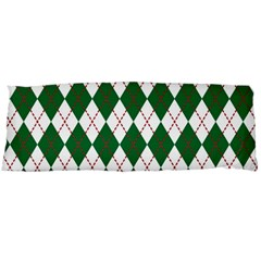 Plaid Triangle Line Wave Chevron Green Red White Beauty Argyle Body Pillow Case Dakimakura (two Sides) by Alisyart