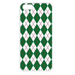 Plaid Triangle Line Wave Chevron Green Red White Beauty Argyle Apple Iphone 5 Seamless Case (white) by Alisyart