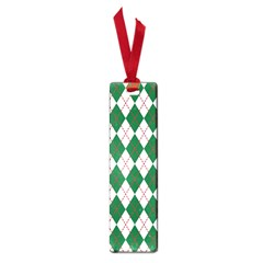 Plaid Triangle Line Wave Chevron Green Red White Beauty Argyle Small Book Marks by Alisyart