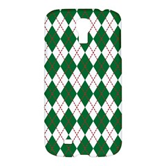 Plaid Triangle Line Wave Chevron Green Red White Beauty Argyle Samsung Galaxy S4 I9500/i9505 Hardshell Case
