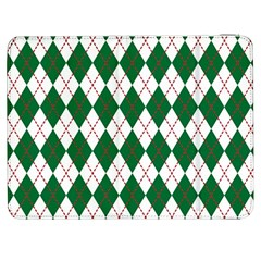 Plaid Triangle Line Wave Chevron Green Red White Beauty Argyle Samsung Galaxy Tab 7  P1000 Flip Case