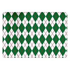 Plaid Triangle Line Wave Chevron Green Red White Beauty Argyle Samsung Galaxy Tab 10 1  P7500 Flip Case