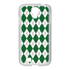 Plaid Triangle Line Wave Chevron Green Red White Beauty Argyle Samsung Galaxy S4 I9500/ I9505 Case (white) by Alisyart